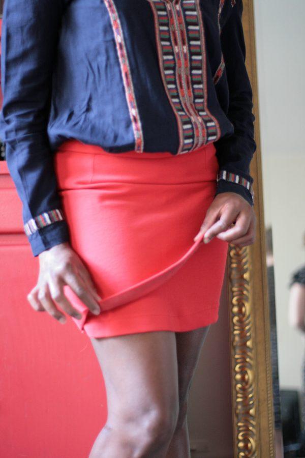 Patron femme Jupe courte femme